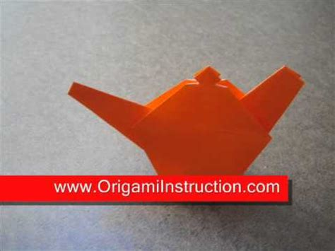 How To Make A Paper Teapot - origami origami teapot