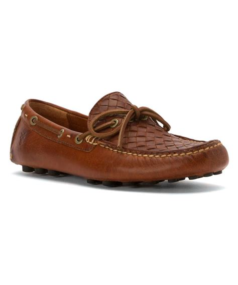 frye s loafers frye s russel woven loafers shoes in brown for lyst