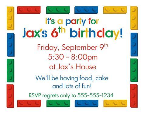 Boy Lego Birthday Card Template Word by Lego Diy Printable Birthday Invitations