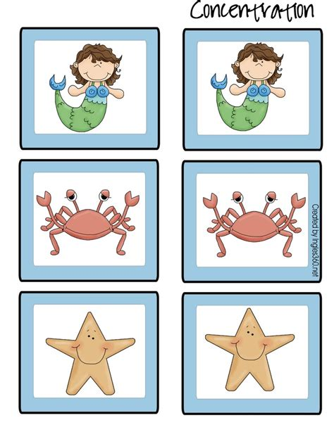 concentration cards templates 101 best images about mermaid theme on