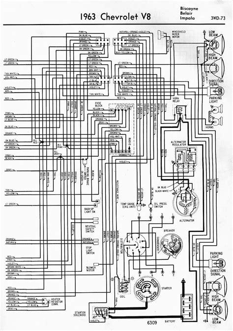 Wiring Diagram For 1963 Chevrolet V8 Biscayne Belair And