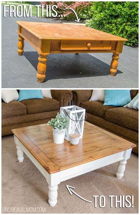 farmhouse wood coffee table farmhouse coffee table makeover unoriginal
