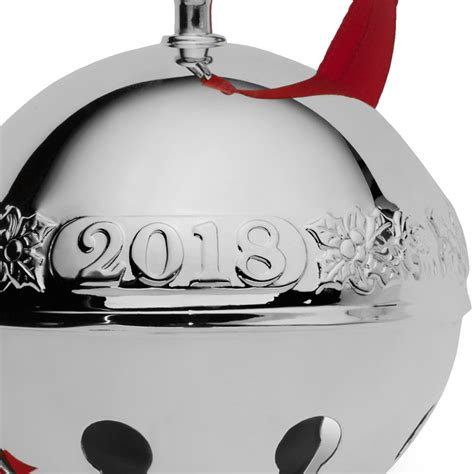 wallace silver bell 2018 2018 wallace sleigh bell 2018 ornament bells