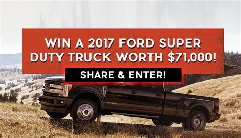Win A Truck Sweepstakes - ford playoffs sweepstakes autos post