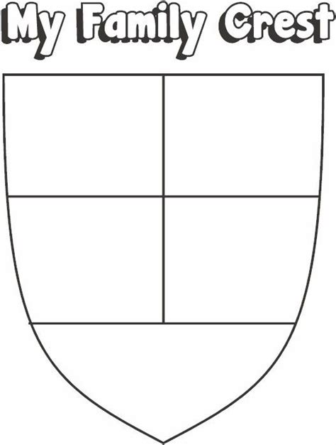 make your own coat of arms template family crest blank templates сайт sentirehealth
