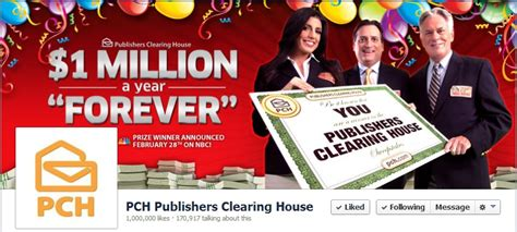 publisher clearing house sweepstakes publishers clearing house launches new sweepstakes on facebook pch blog