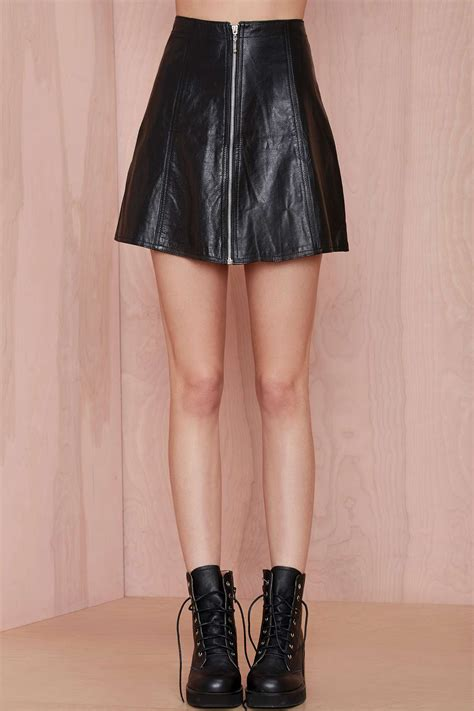 gal born to ride vintage leather skirt and top set