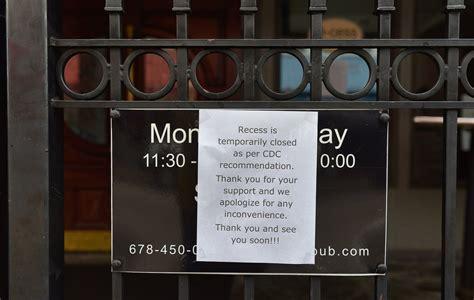whats closed  canceled due  coronavirus threat