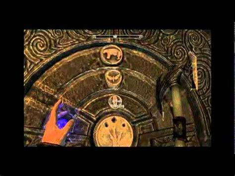 the elder scrolls skyrim golden claw door combination