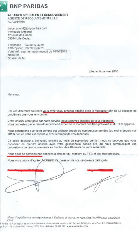 Lettre De Motivation Pour La Banque Bnp Aplomb La Bnp Intercepte Le Courrier Du Mediateur Et Refuse De Lui Transmettre