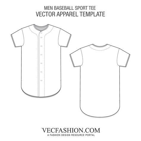 Men Baseball Sport Tee Vecfashion Free Baseball Jersey Template