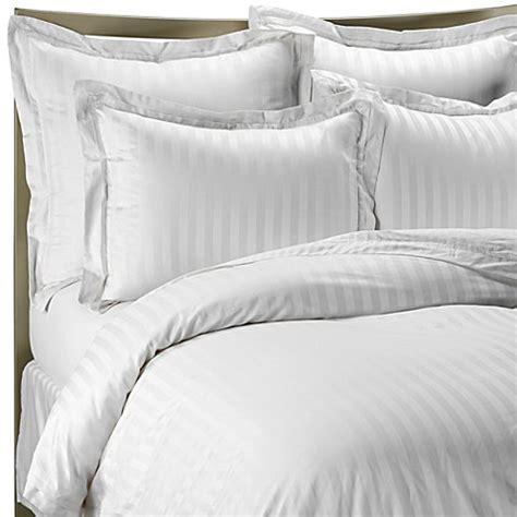 wamsutta damask comforter wamsutta 174 500 damask stripe duvet cover set in white bed