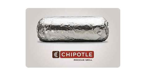 Chipotle Gift Card Deal - chipotle 5 for 10 gift card