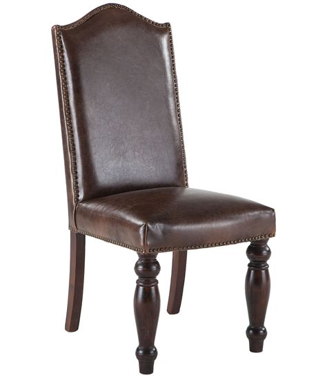 distressed dining room chairs leather dining room chairs with nailheads 187 dining room