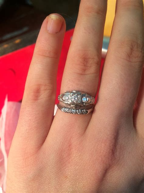 how to match wedding band w deco engagement ring
