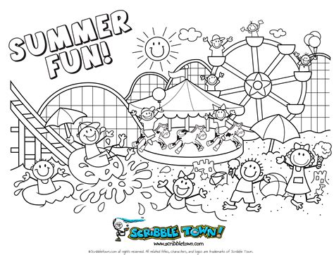 summer coloring pages for older kids free large images