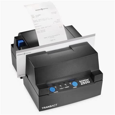 Printer Validasi bankjet 2500 inkjet teller receipt validation printer transact tech
