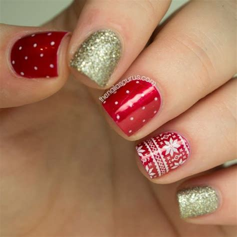 christmas pattern nails top 15 beauty christmas nail art design new easy winter