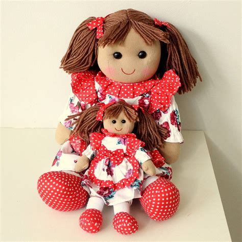 rag dolls mini rag doll by ella notonthehighstreet