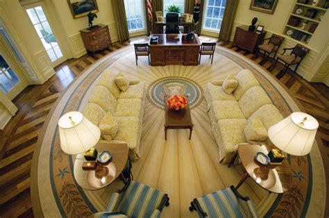 what floor is the oval office on the oval office through the years
