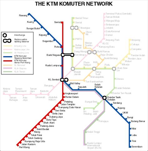 Ktm Route Map Keretapi Tanah Melayu Ktm كريتاڤي تانه ملايو Malayan