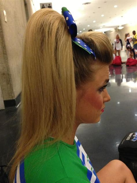 pictures of cheer hair styles 91 best cheer hair images on pinterest cheer stuff