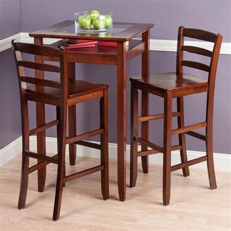 pub table with 2 chairs amazon com winsome wood halo 3 pub table set with 2
