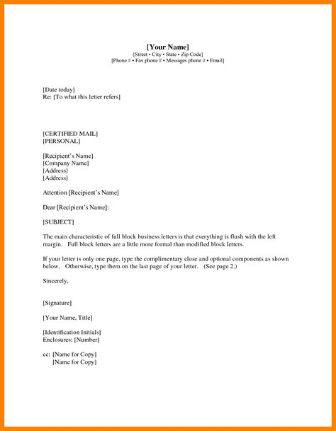 Business Letter And A Memo formal business letter format official letter sle