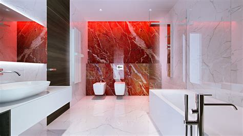red marble bathroom beautifully unique bathroom designs