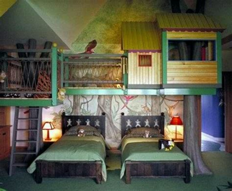 indoor treehouse playroom treehouse and