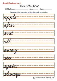 printable handwriting worksheets ks3 kindergarten cursive handwriting worksheet printable