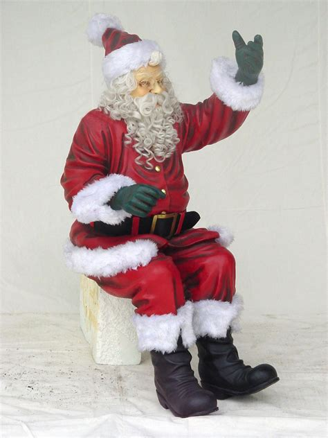 santa claus sitting with beard 5ft