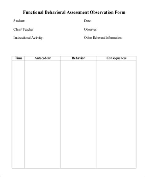 functional behavior assessment template what is behavior analysis exles 3 exles powerpoint