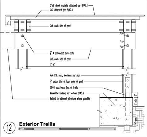 Trellis Construction Detail build trellis detail 02 construction details wood trellis pergolas and construction