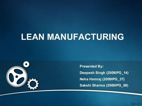 5s powerpoint template lean manufacturing