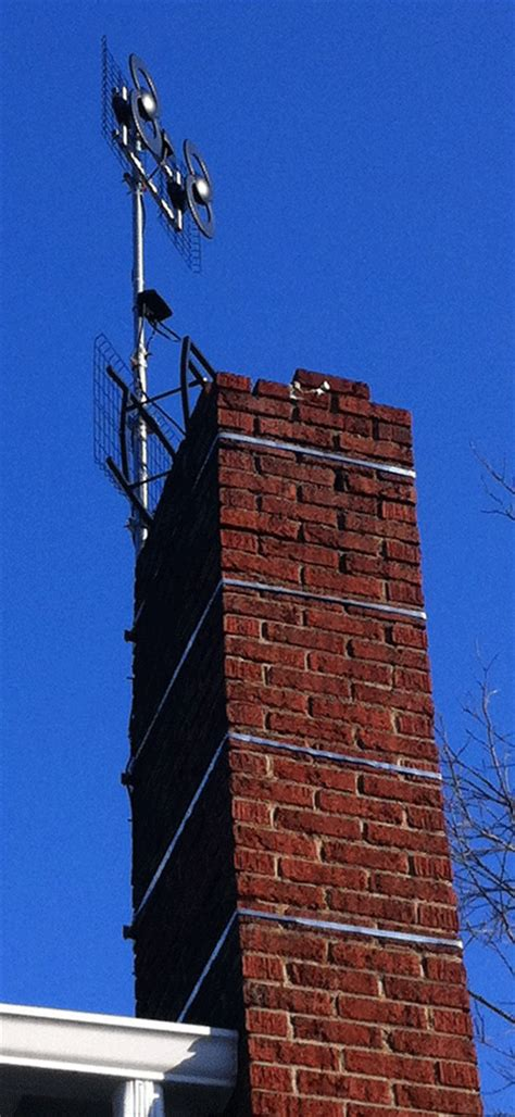 Chimney Mount Antenna Straps - how we got the air ota hdtv in a fringe reception