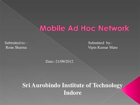 manet mobile ad hoc network mobile ad hoc network