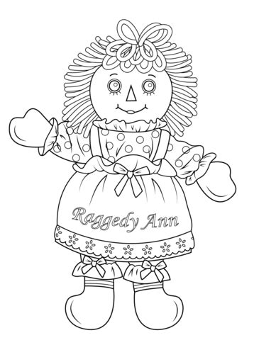 Raggedy Ann Doll coloring page | Free Printable Coloring Pages