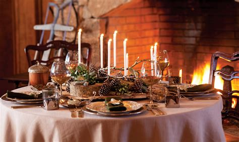 winter table woodland inspired winter table setting