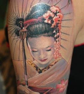 geisha tattoo on arm geisha arm tattoo by james tattooart tattoomagz