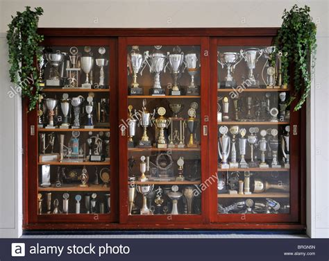 trophy cabinets for home cabinet filled with football trophies in home of german