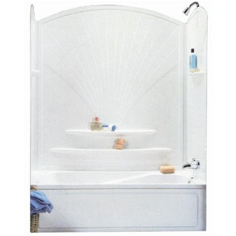 Surround Bathtubs Kits by Advanta 101592 129 63 Decora Tub Wall Kit Reviews