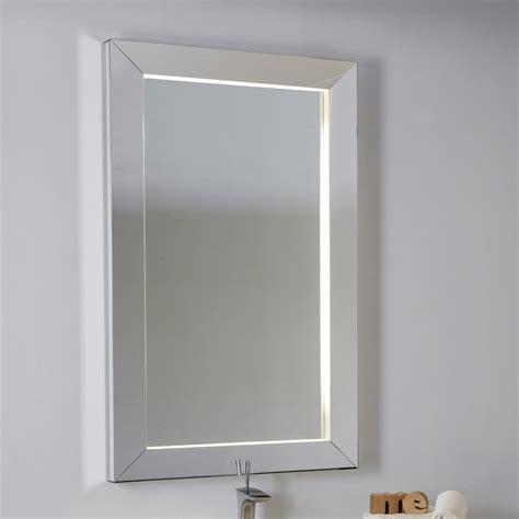 illuminazione specchio bagno led specchio bagno con led e cornice rilegata mamo