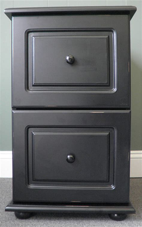 Home Office 3 Drawer Filing Cabinet With Casters In Black Black File Cabinet Wood