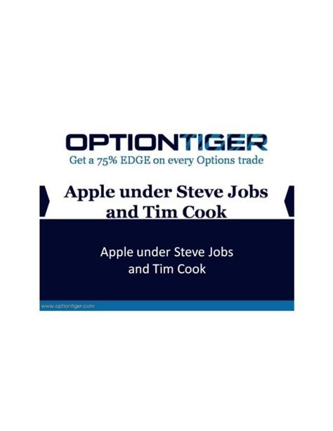 Apple Mba Recruitment by Apple Steve And Tim Cook
