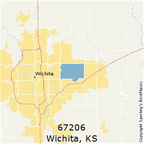zip code map wichita ks best places to live in wichita zip 67206 kansas