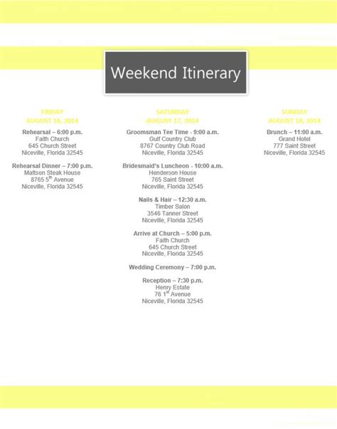 Best 25 Wedding Itinerary Template Ideas On Pinterest Wedding Day Timeline Template Wedding Itinerary Template Free