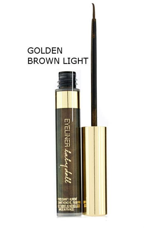 light brown liquid eyeliner ysl babydoll liquid eyeliner black golden brown blue