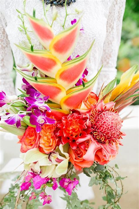 Tropical Wedding Flowers by The Most Tropical Wedding Theme You Ve Seen