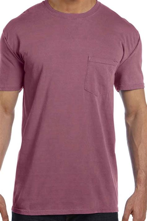 comfort colors wine shades of pink purple comfort colors cotton pocket tee